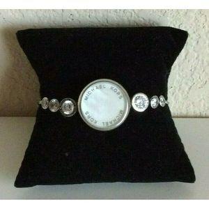 Michael Kors Silver Tone Adjustable Bracelet